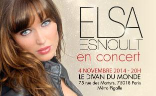 Elsa Esnoult en concert le 4 novembre !